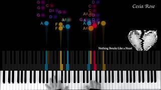 Miley Cyrus - Nothing Breaks Like a heart (Easy Piano) Video