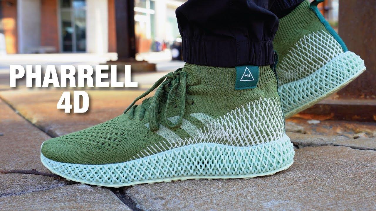 Adidas PHARRELL 4D Review \u0026 On Feet