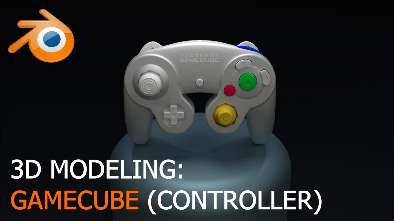 Gamecube Controller - 3D Modeling