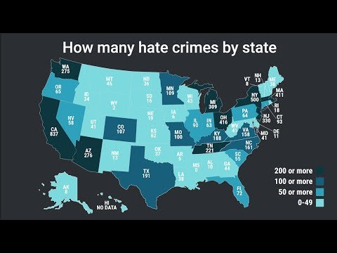 Here's where the most hate crimes occur in the US — it's not where you think