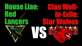 MechWarrior Online - Red Lancers vs Star Wolves (House Liao vs Clan Wolf in Exile) Community Warfare