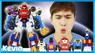 캐빈의 다이노코어 울트라 디버스터 티라노 변신 로봇 장난감 놀이 l 캐리 앤 플레이