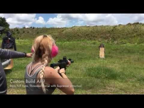Shooting Full Auto H&K MP5SD, MP5A5 and Custom AR9