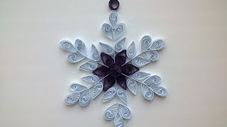 Quilling Сhristmas ornaments: make beautiful Quilling snowflake.