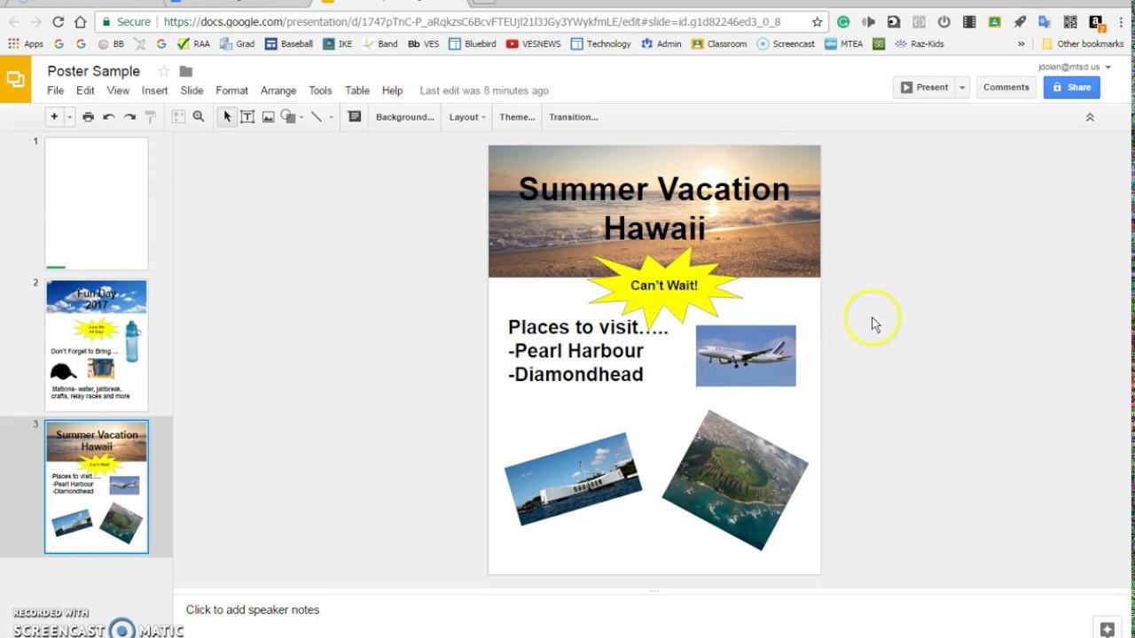 use google slides for desktop publishing youtube