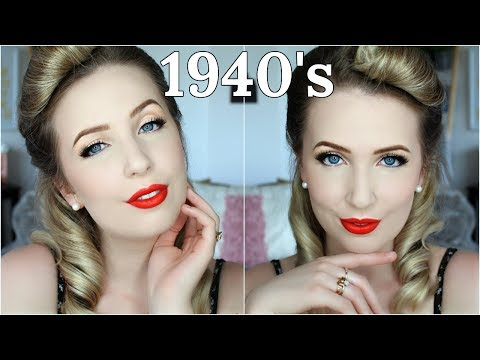 100 Years of Makeup for Pale Skin | 1940's