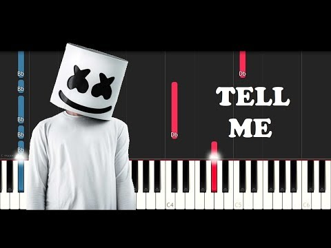 Marshmello - Tell Me (Piano Tutorial)
