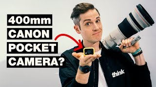 400mm Canon Camera Lens That Fits in Your Pocket? — Canon Concept Camera #CES2018