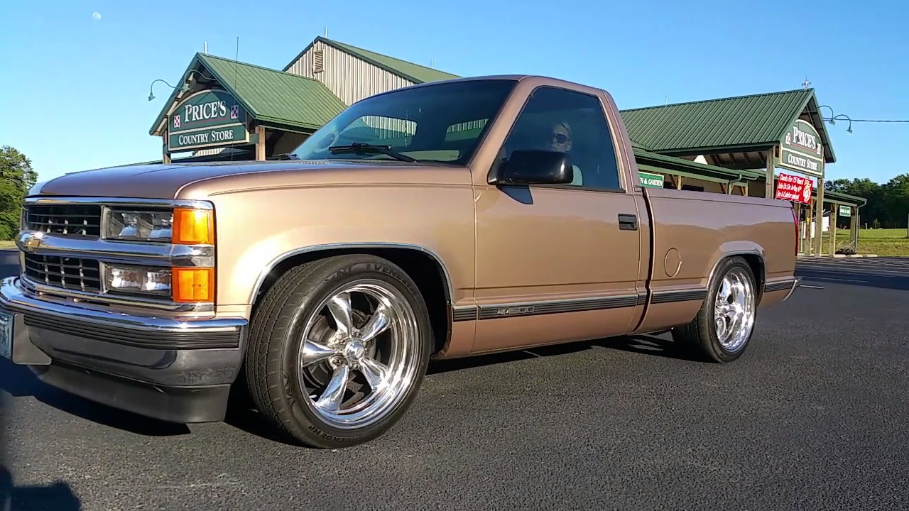1996 chevrolet silverado short bed v8 static dropped 5 7 ls [ 1280 x 720 Pixel ]