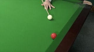 Snooker Tips - Potting Technique - Along the cushion