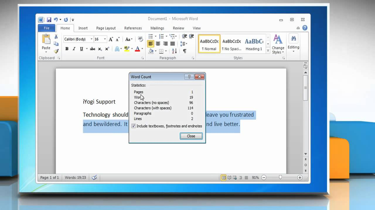 How to get word count of microsoft word 2007 2010 document youtube how to get word count of microsoft word 2007 2010 document spiritdancerdesigns Images