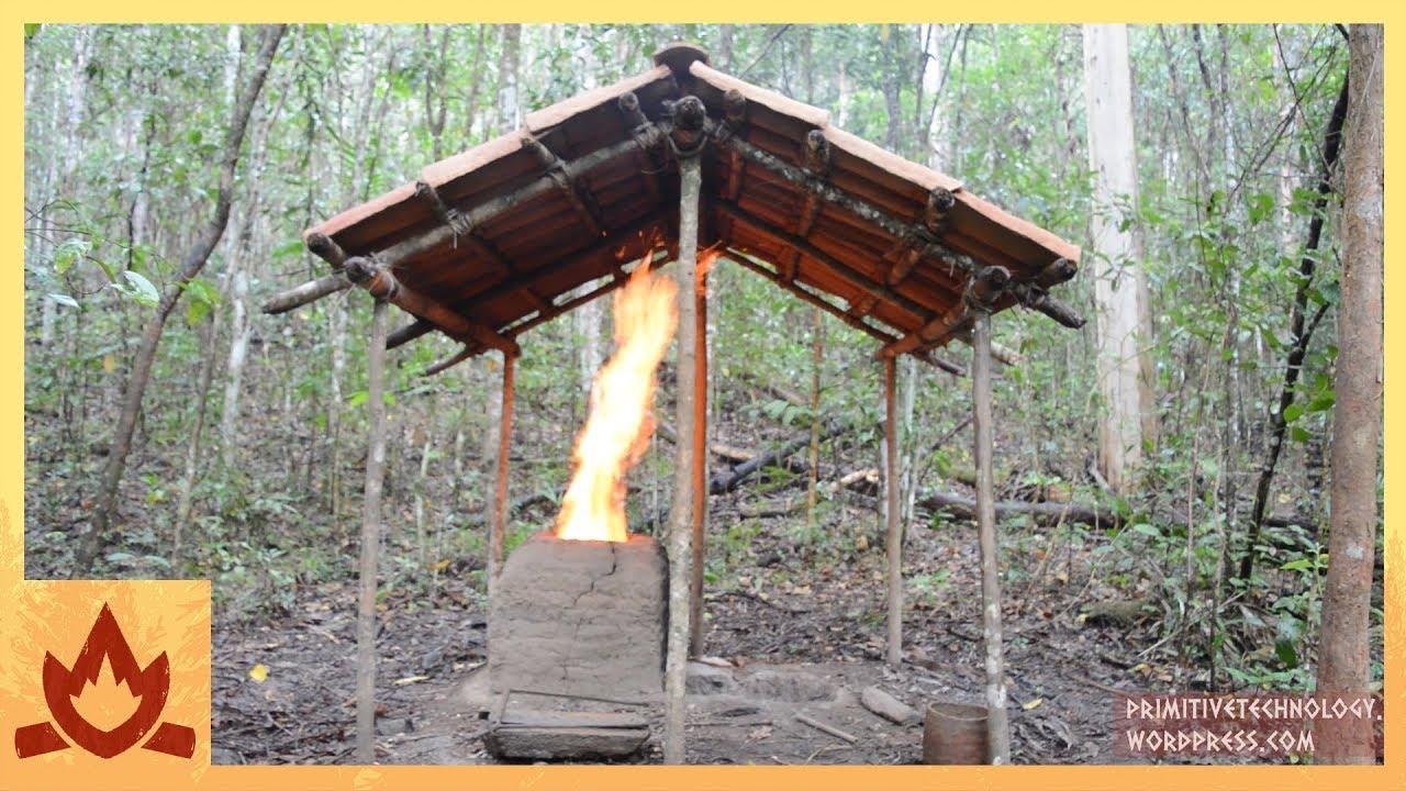 tiled roof hut frame