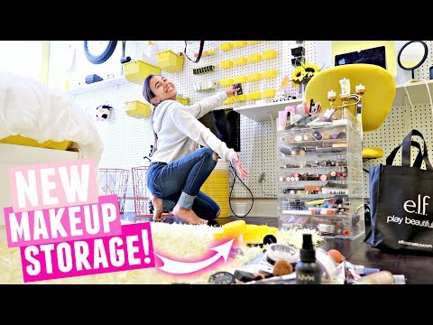 Organizing my MAKEUP! New LA House Makeup Collection and Storage 2017