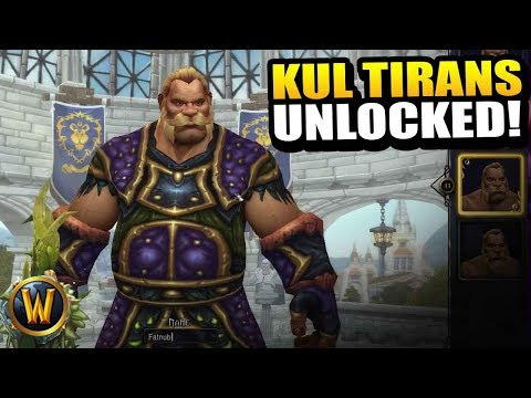 Unlocking Kul Tiran humans at last!! // World of Warcraft