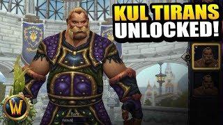 Unlocking Kul Tiran humans at last!! // World of Warcraft