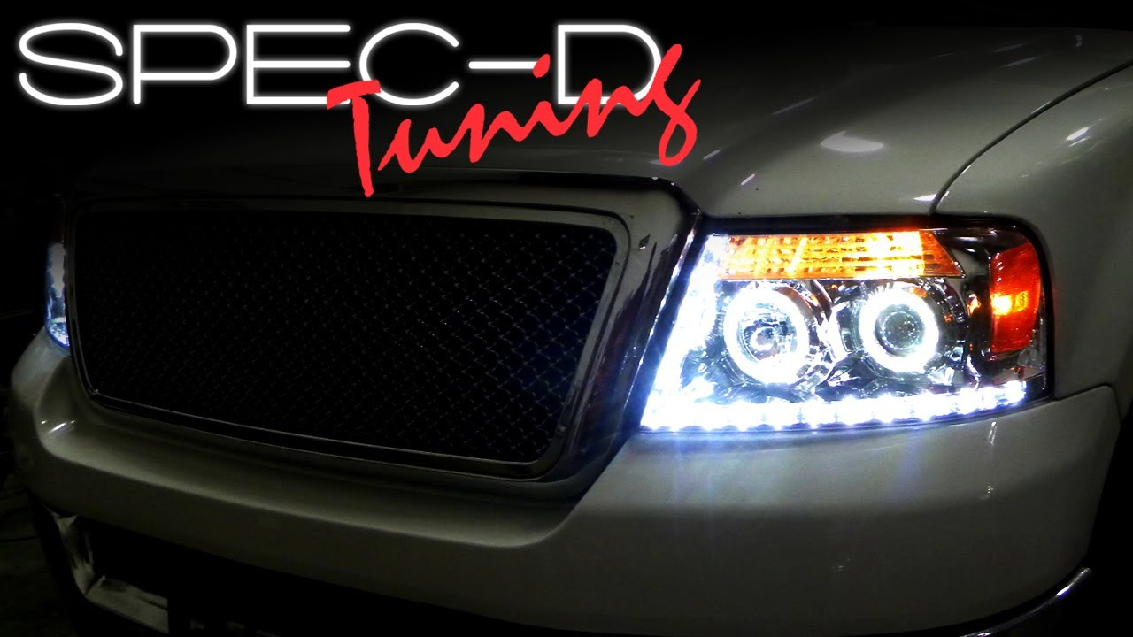 specdtuning installation video 2004 2008 ford f150 projector headlights youtube [ 1280 x 720 Pixel ]