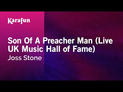 Karaoke Son Of A Preacher Man (Live UK Music Hall of Fame) - Joss Stone *