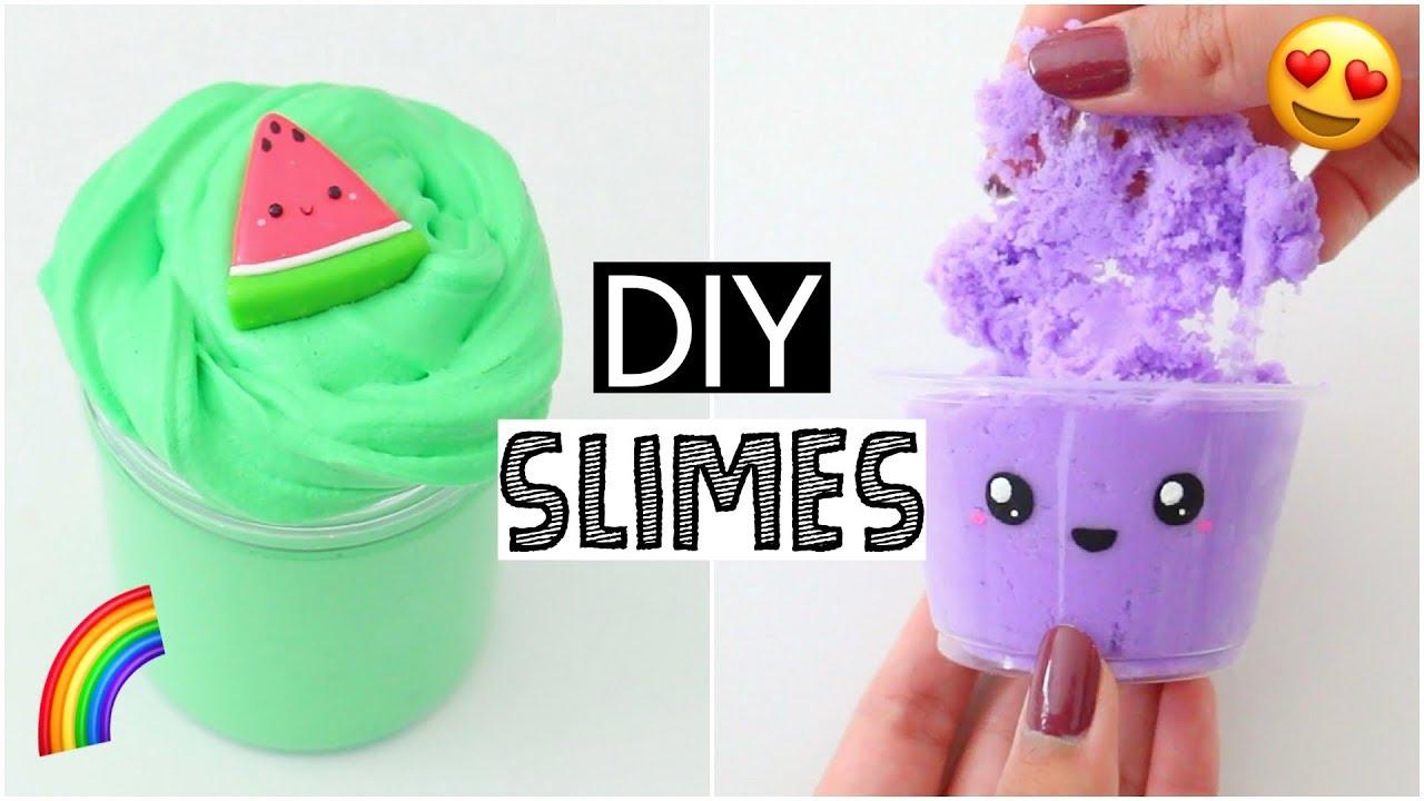 Making 25 Amazing Diy Slimes Six Easy Slime Recipes Youtube