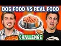DOG FOOD VS REAL FOOD CHALLENGE! (ft. Teens React Cast) | Challenge Chalice