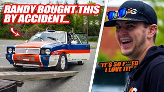 Randy ACCIDENTLY Bought This Lancia Delta Rally Car For $8000 & Hunter LOVES IT! (it's sketchy af)