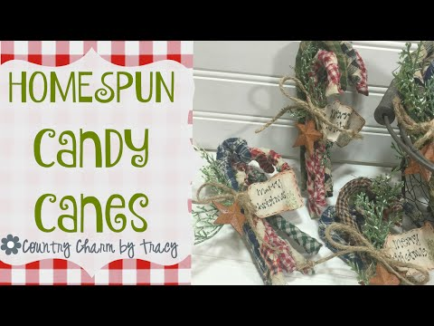 {Homespun Candy Canes} Country Christmas With Giveaway {CLOSED}