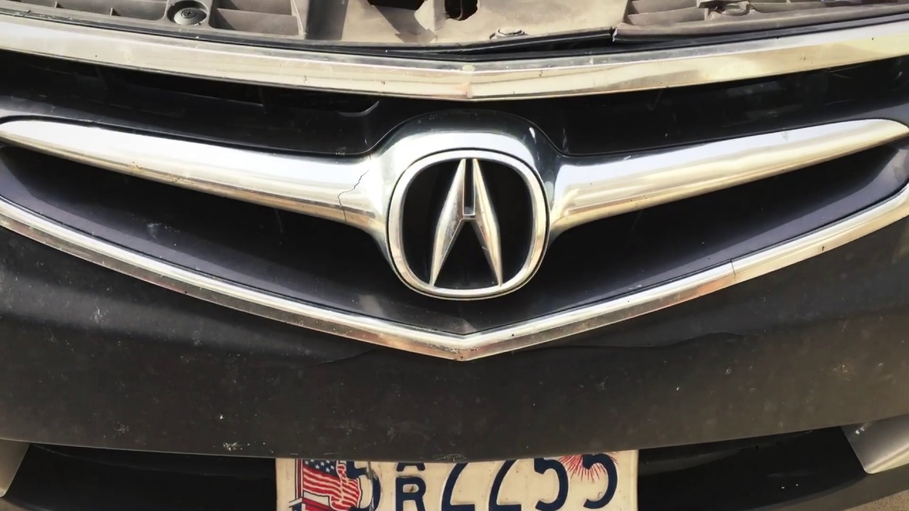Acura TSX Front Grill Emblem Replacement YouTube - 2018 acura tsx grill replacement