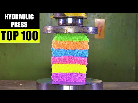 Top 100 Best Hydraulic Press Moments | Satisfying Crushing C
