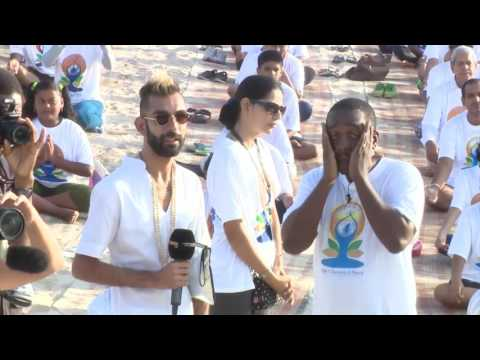 "International ""YOGA DAY"" held in Dar Es Salaam, Tanzania @ Coco Beach...By IHC & ICC - 21 June 2016"