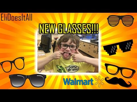 I Got New Glasses!!! EliDoesItAll Walmart Optical
