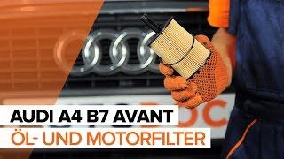 Wie und wann wechseln Motorölfilter Ersatz AUDI A4 Avant (8ED, B7): Video-Tutorials