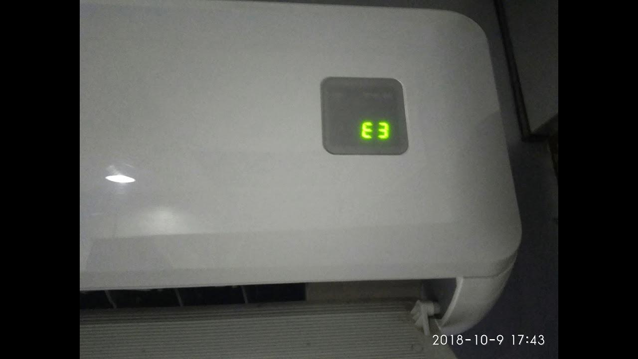 E3 error code air conditioner