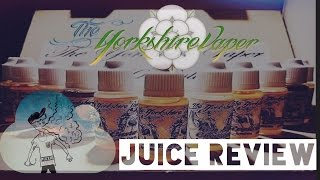 The Yorkshire Vaper Ejuice Review - Coconut Twist/peach Custard/keylime Cheesecake/raspberry Custard