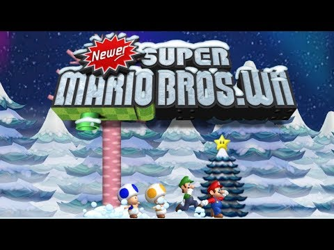 Newer Super Mario Bros Wii: Holiday Special 100% (All Star Coins)