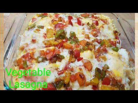 Vegetable Lasagna using Whole Wheat Bread & Maggie/ Vegetable Lasagna from scratch/व्हेजिटेबल लसाना