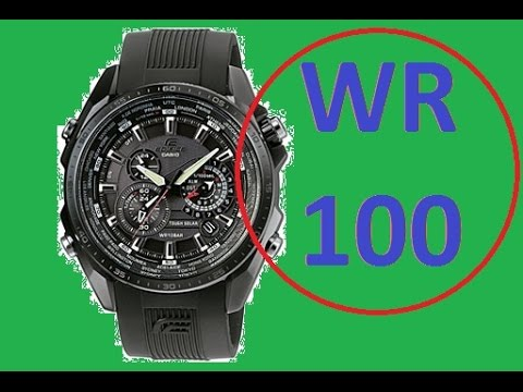 Water Resistant 10 Bar Casio Edifice Eqs 500c Test At Home