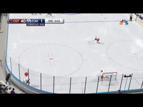 NHL 17 CALGARY FLAMES VS Edmonton Oilers Game #60