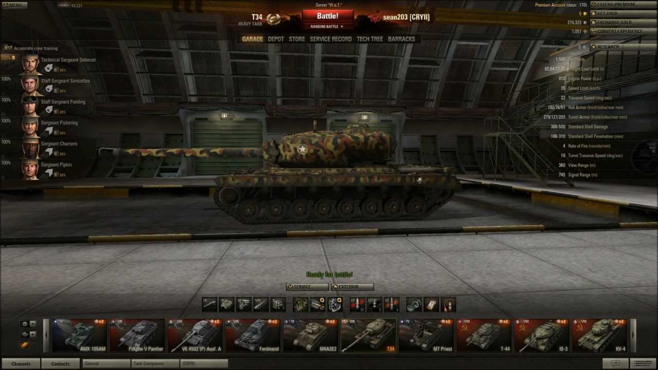World of tanks tank slots without golden