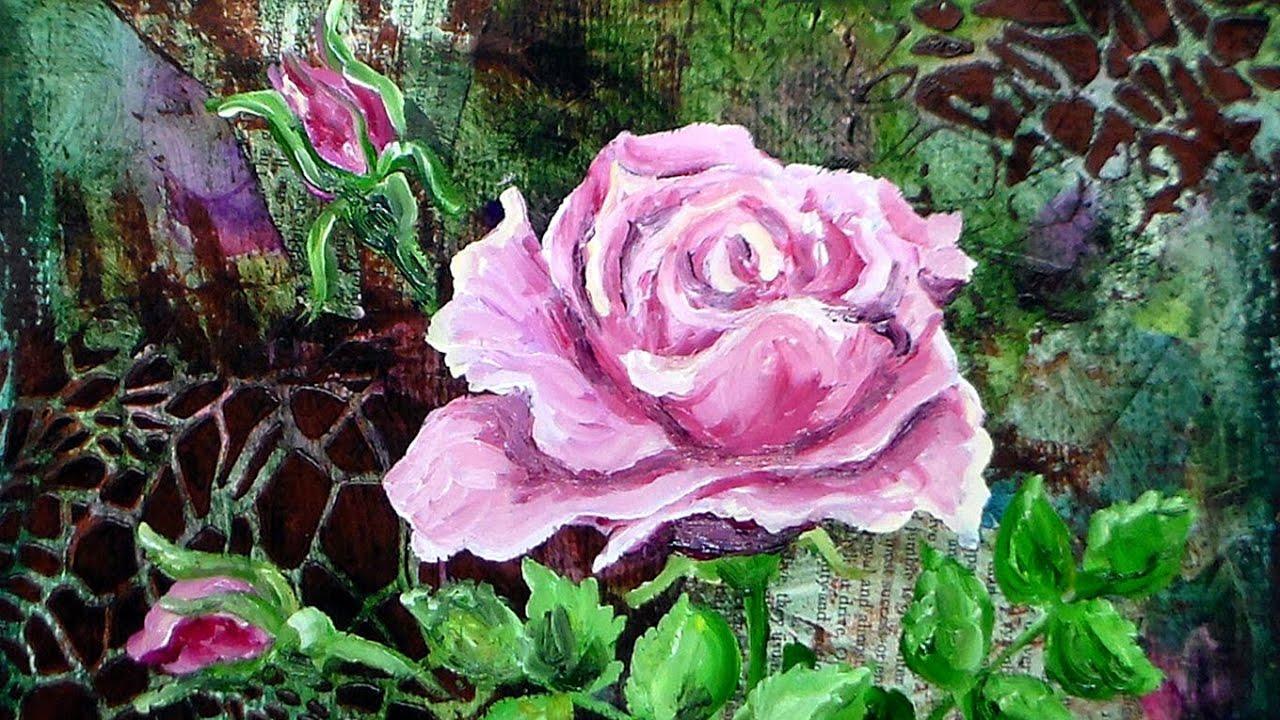 Beginner oil painting tutorial: rose youtube.