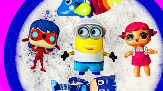 Learn Characters with Pj Masks, Minions and Ladybug for Kids - Animals for Children