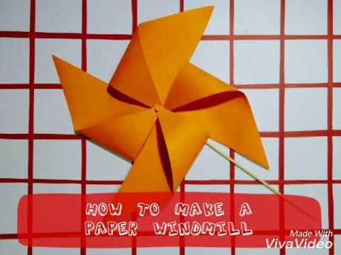 DIY Paper Windmill