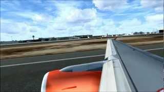 Flight Simulator X- Easyjet Airbus A319 Takeoff Palma De Mallorca
