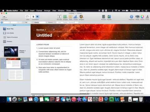 Write A Book on Your Mac: iBooks Author