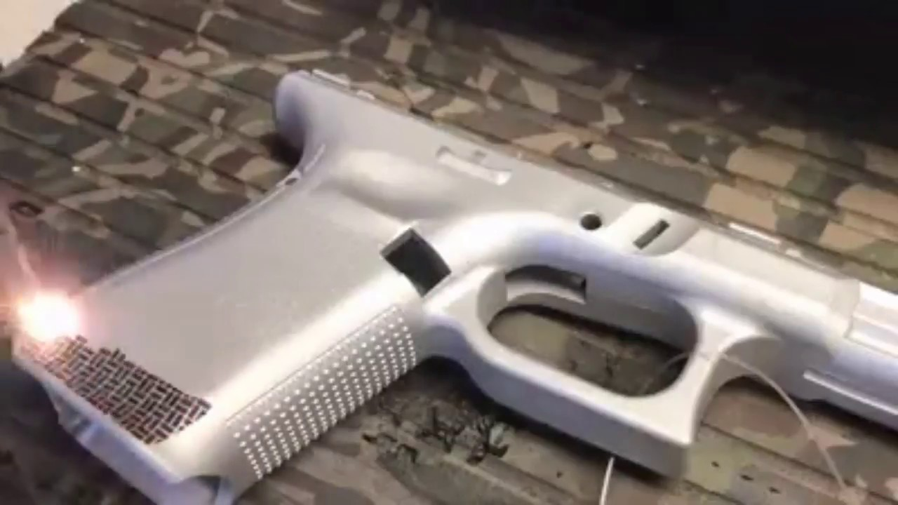 Laser Stippling Guns Glock 19 Gen 5 Custom Youtube