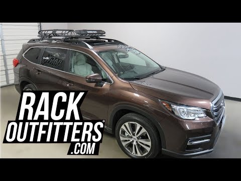 Subaru Ascent with Rhino-Rack XTray Pro Roof Top Cargo Basket with Bike Carriers