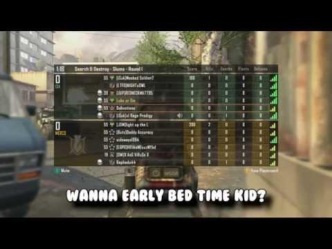 COD Black Ops 2: WANNABE HACKER SAYS IT'S BED TIME (TROLLING SCRIPT KIDDIES)
