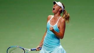 Maria Sharapova vs Agnieszka Radwanska   2015 WTA Finals Highlights