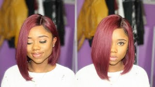 FIRE RED BOB CUT - PERFECT FOR SPRING  || Wowafrican || Chev B.