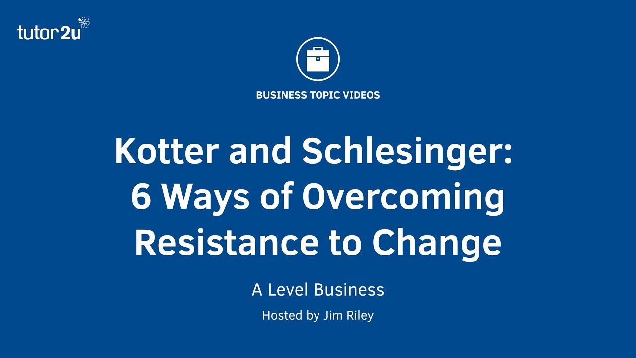 analysis of kotter and schlesinger s six techniques for managing resistance to change Resistance to change as a negative force resistance is most commonly linked with negative employee attitudes with counter- productive behaviours (waddell and sohal 1998) negativity is a misconception that there are so many times when resistance is the most effective response available.