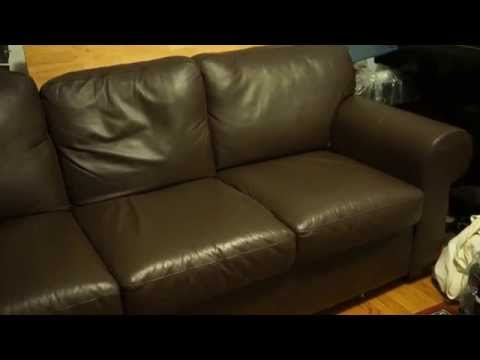 Charmant Ikea Leather Sofa (EKTORP?) Overview   YouTube