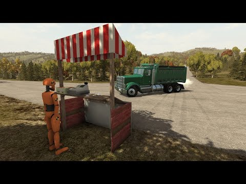 Crash Test Dummy Fruit Stand 3 | BeamNG.drive
